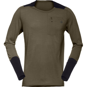Norrøna Skibotn Wool Equaliser Long Sleeve Shirt Men Dark Olive